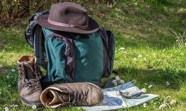 sac et affaires de randonnées