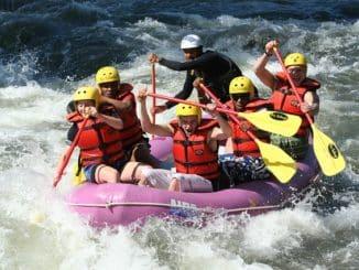 equipe de rafting